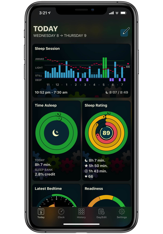 The AutoSleep app is beautiful.
