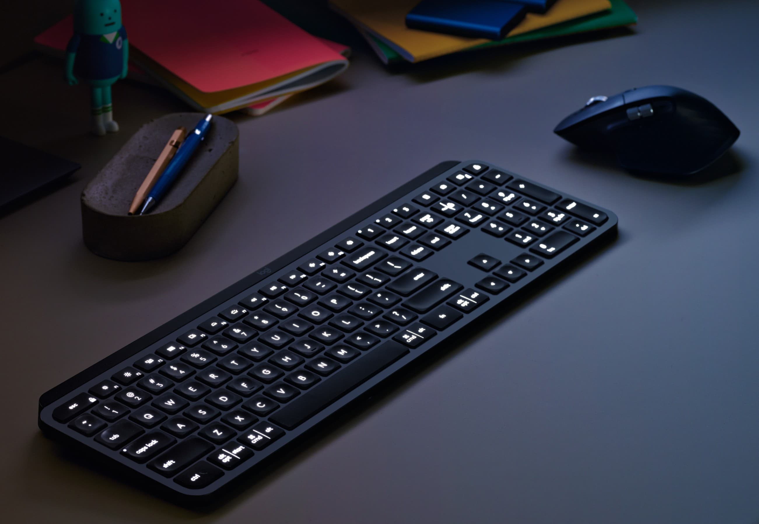 Make your work-from-home setup more comfortable with a solid keyboard and mouse like the Logitech MX Keys and MX Master 3.
