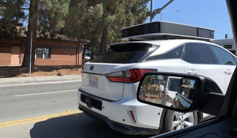 Apple's self-driving car sports sleek new sensor array