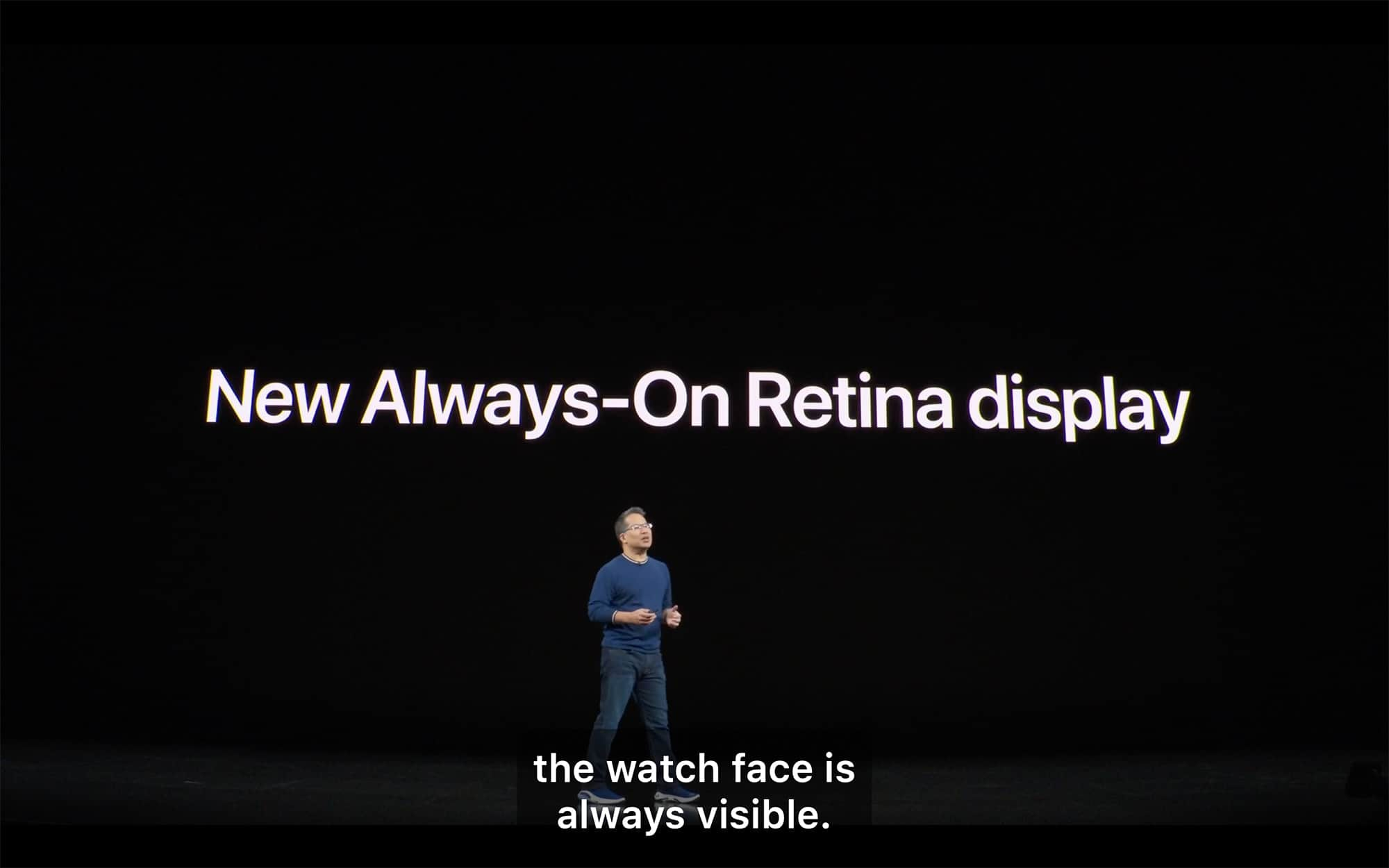 Apple Watch gets an always-on Retina display. Finally.