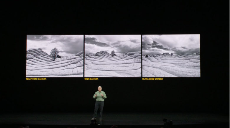 the three view of the iPhone 11 Pro