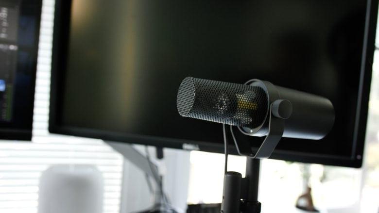 The legendary Shure SM7B microphone.