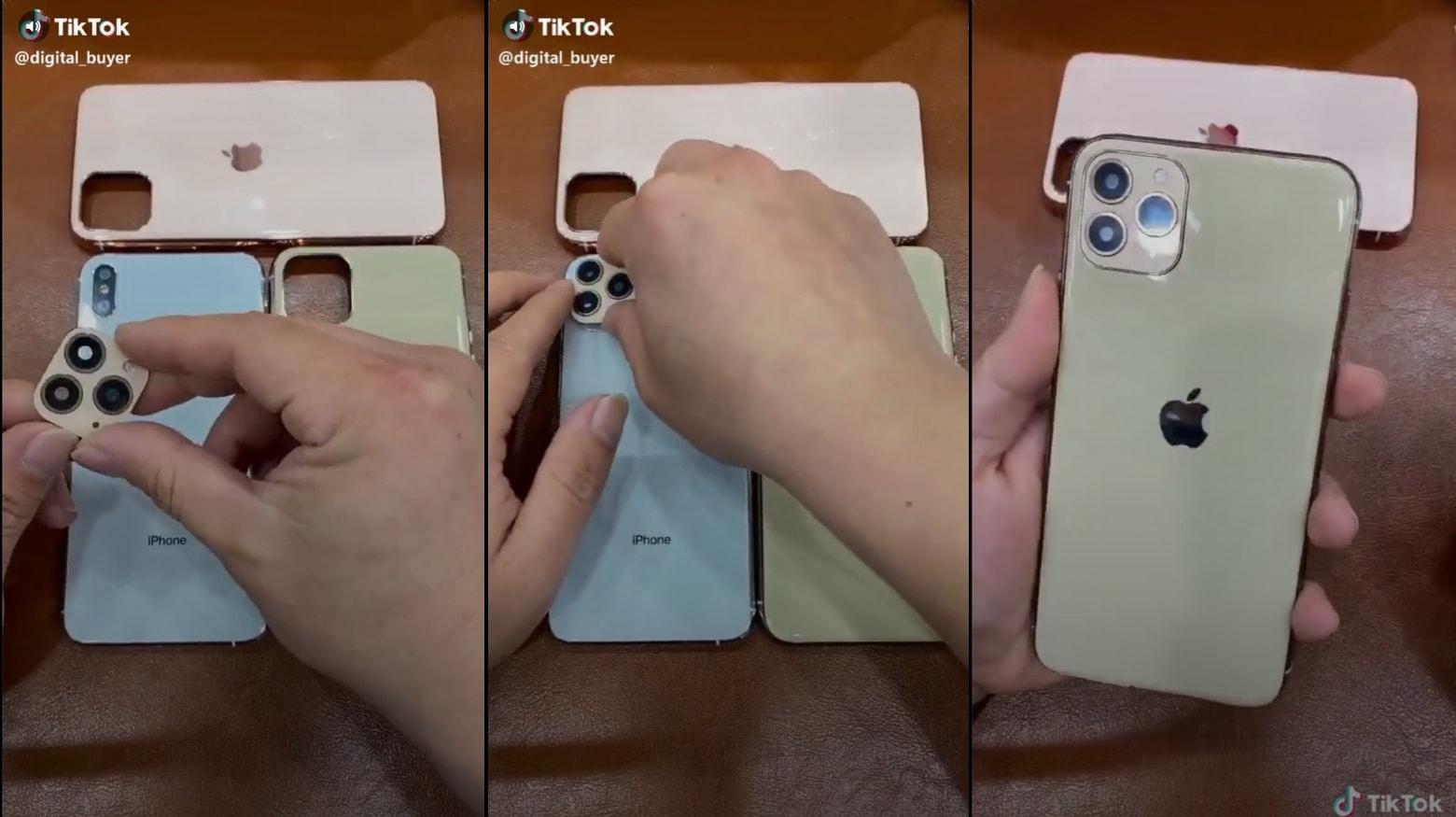 iPhone XS case simulates iPhone 11 Pro
