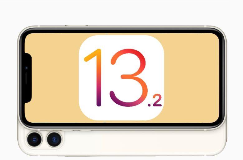 iOS 13 logo on an iPhone 11