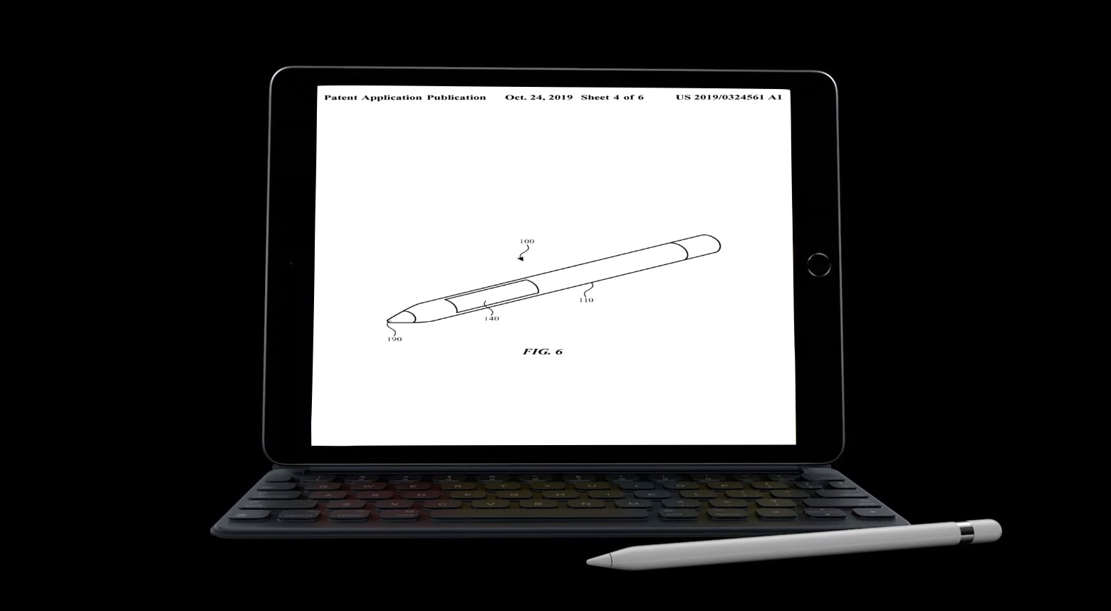 Apple Pencil with touchscreen patent filing