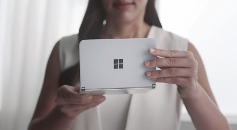 Microsoft Surface Neo in hand