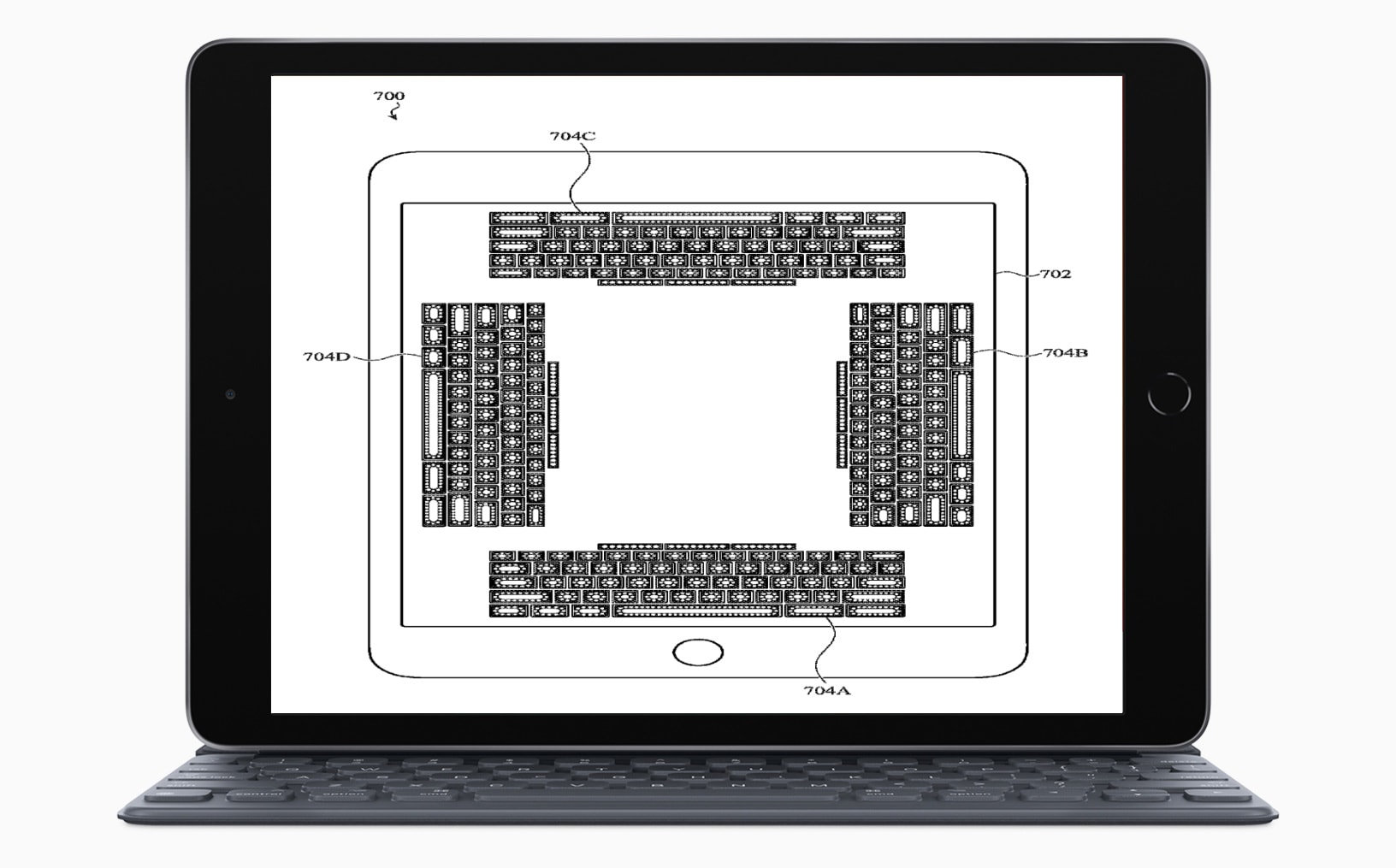on-screen haptic keyboard patent
