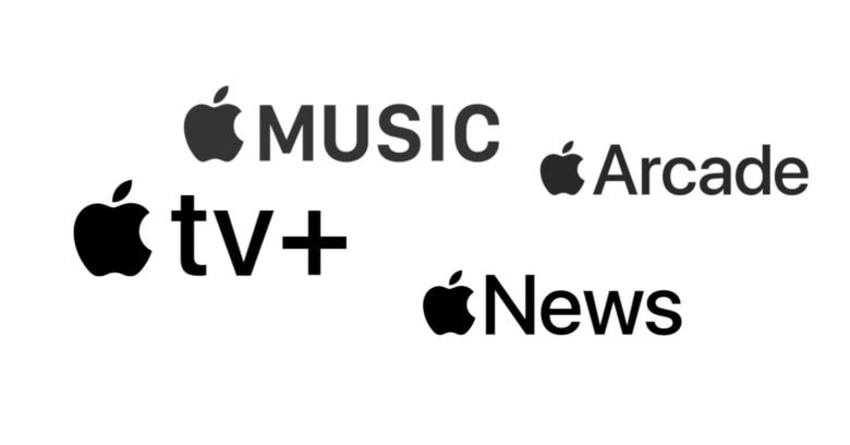 Apple Music, Apple TV+, Apple Arcade, Apple News+