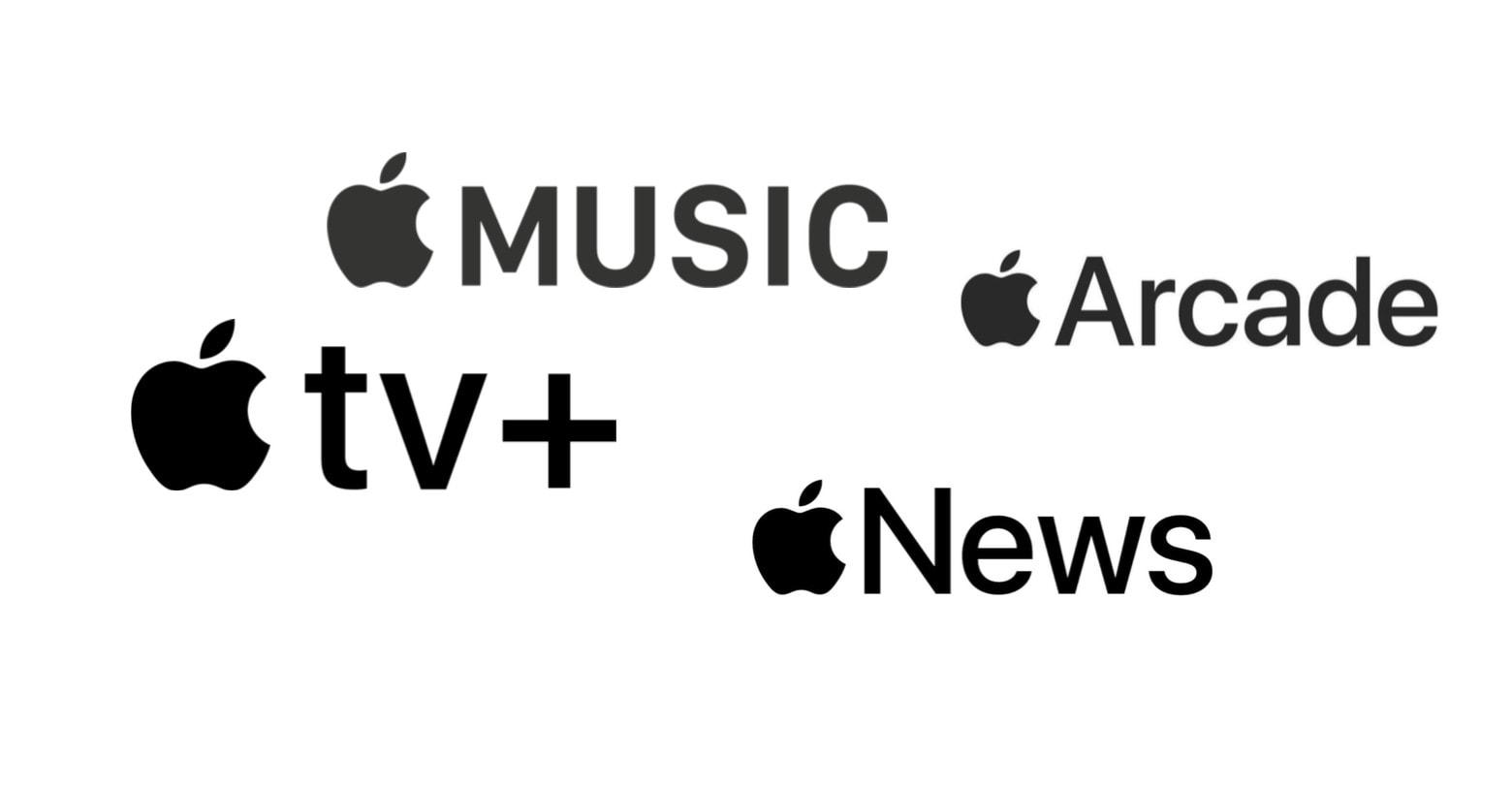 Apple Music, Apple TV+, Apple Arcade, Apple News+
