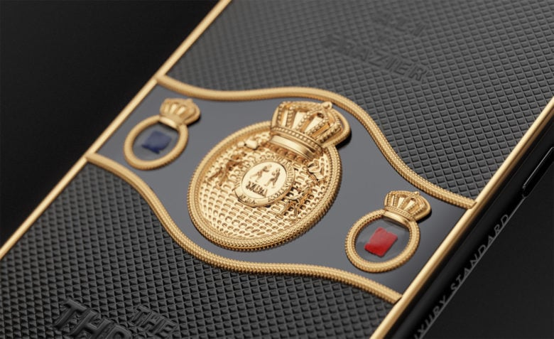 Caviar phone features gloves pieces from Ali-Frazier