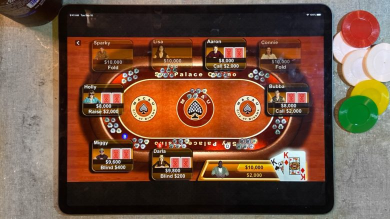 Now you can play Apple's classic poker game Texas Hold'em on iPad.