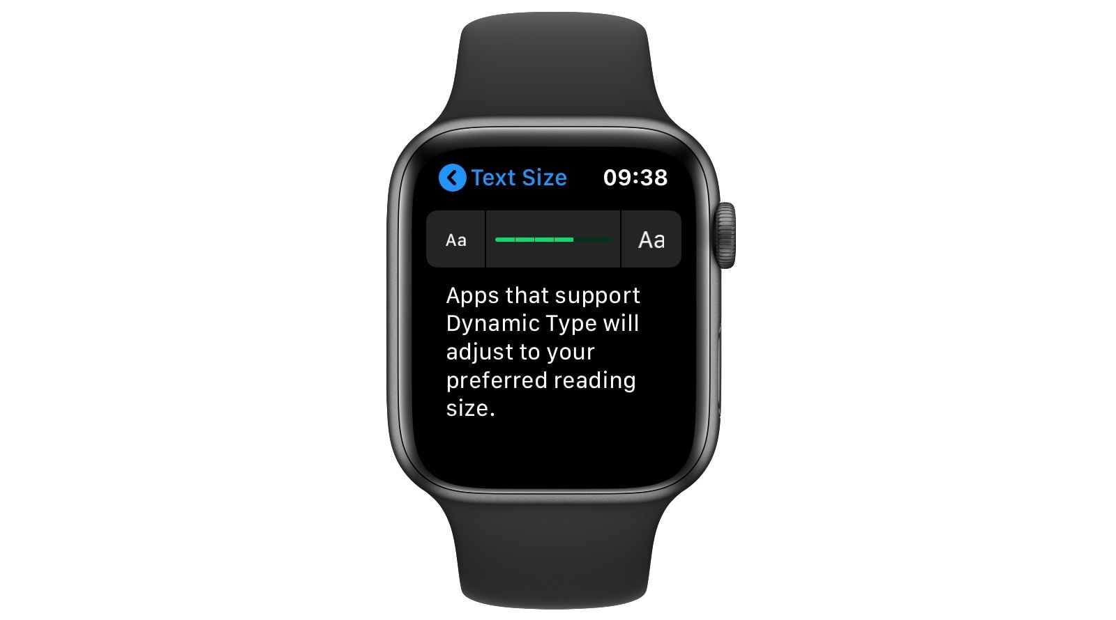 Maybe you just want to make Apple Watch text a bit bigger.