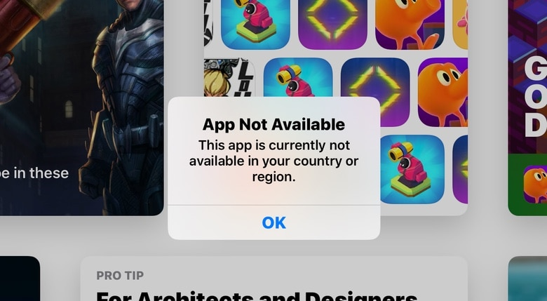 Missing from App Store