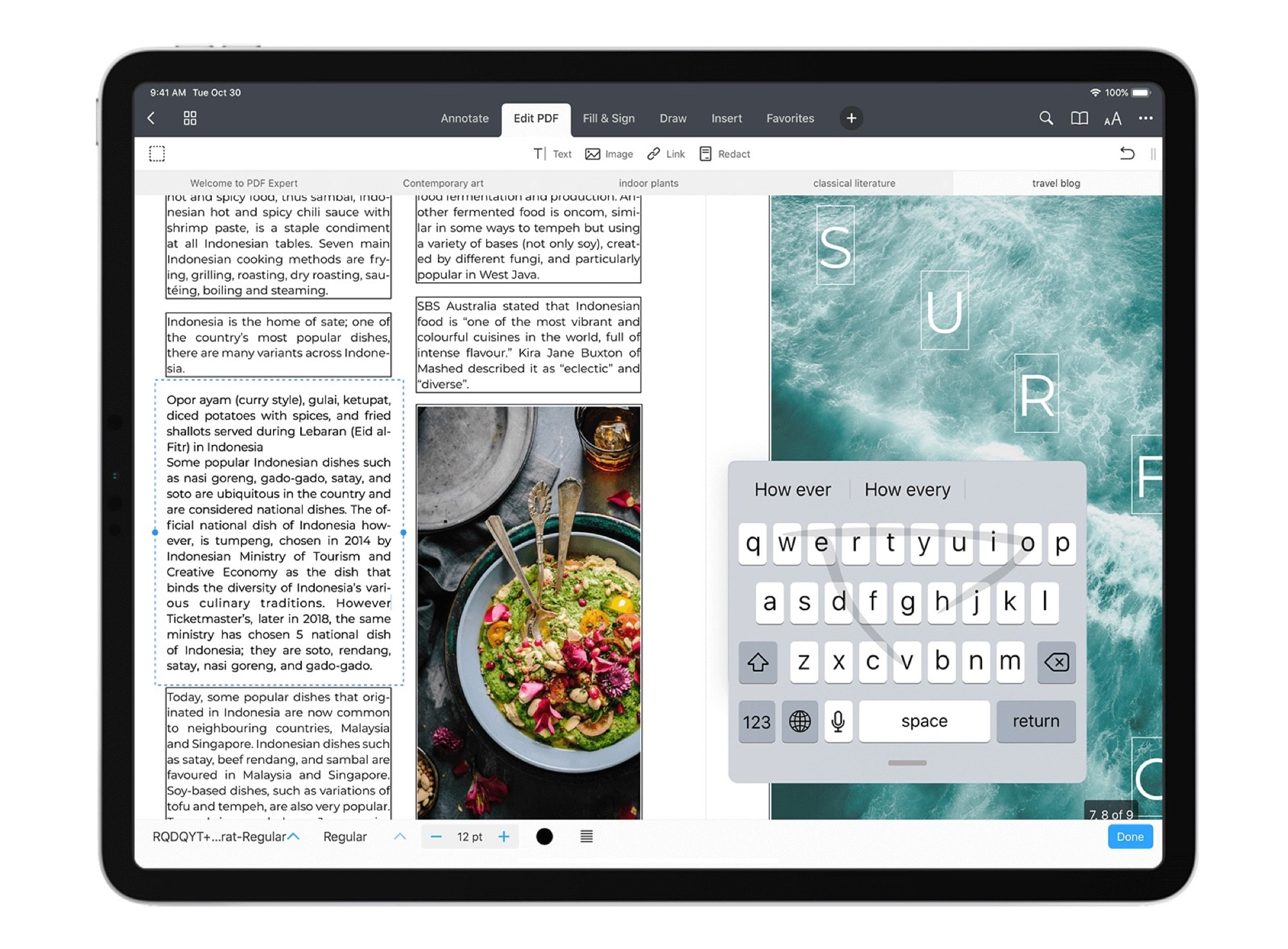 The mini floating keyboard is a great new feature in iPadOS 13.