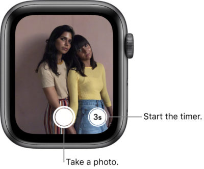 Snap a photo, or start the timer