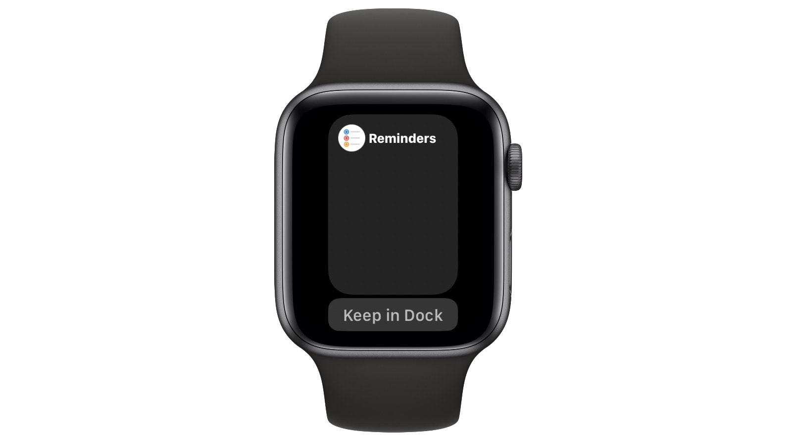 You also can add apps to the Dock on your Apple Watch.