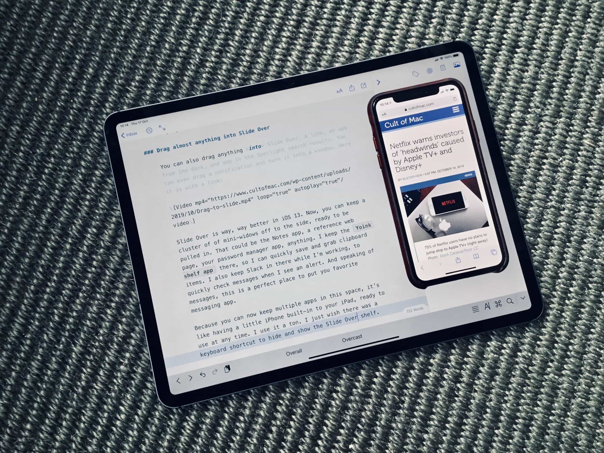 Slide Over in iPadOS 13 is like having an iPhone inside your iPad.