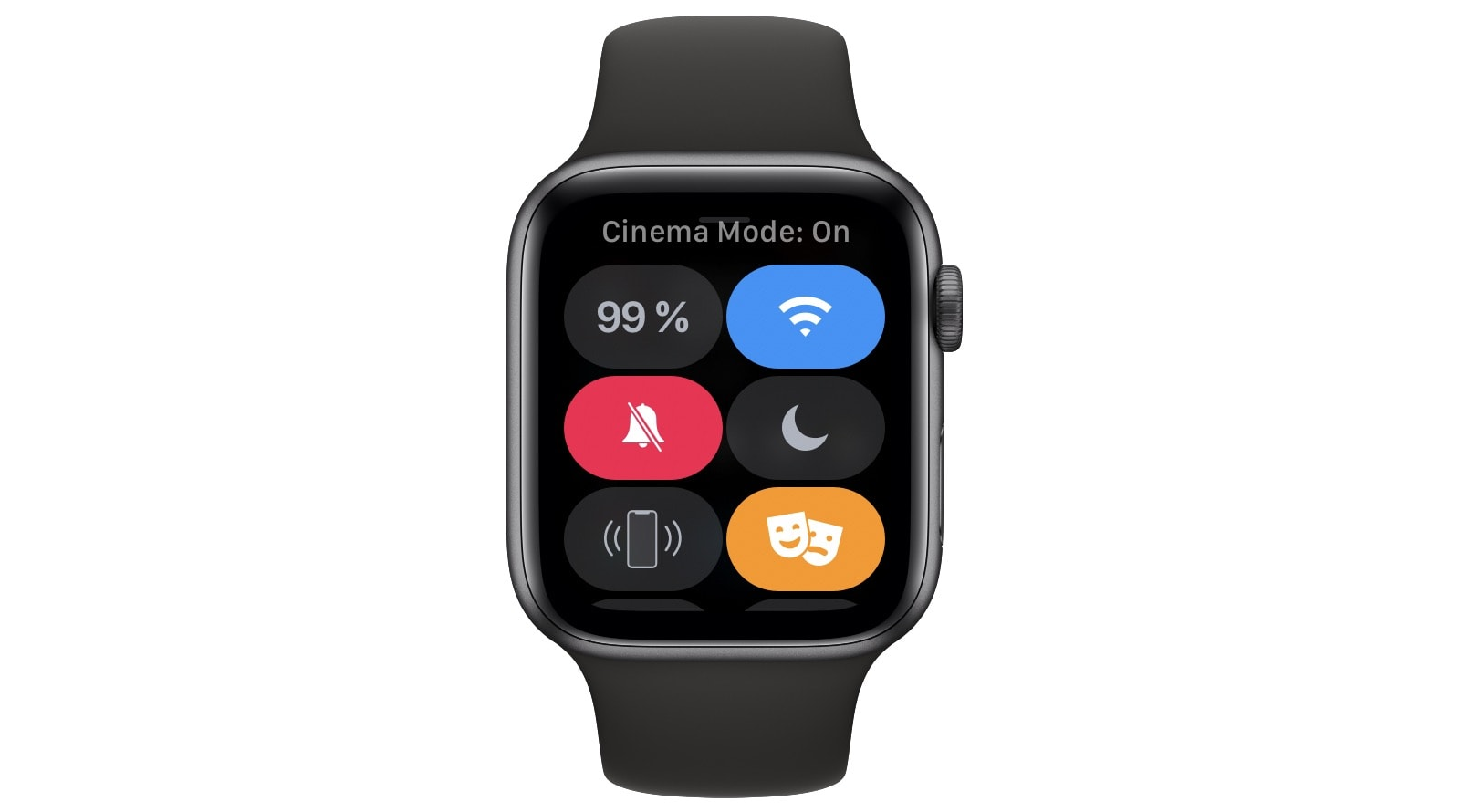 Apple Watch Cinema Mode, aka  bed mode.
