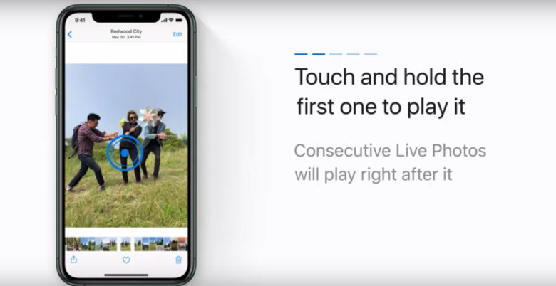 how-to for Live Photos video in iOS 13