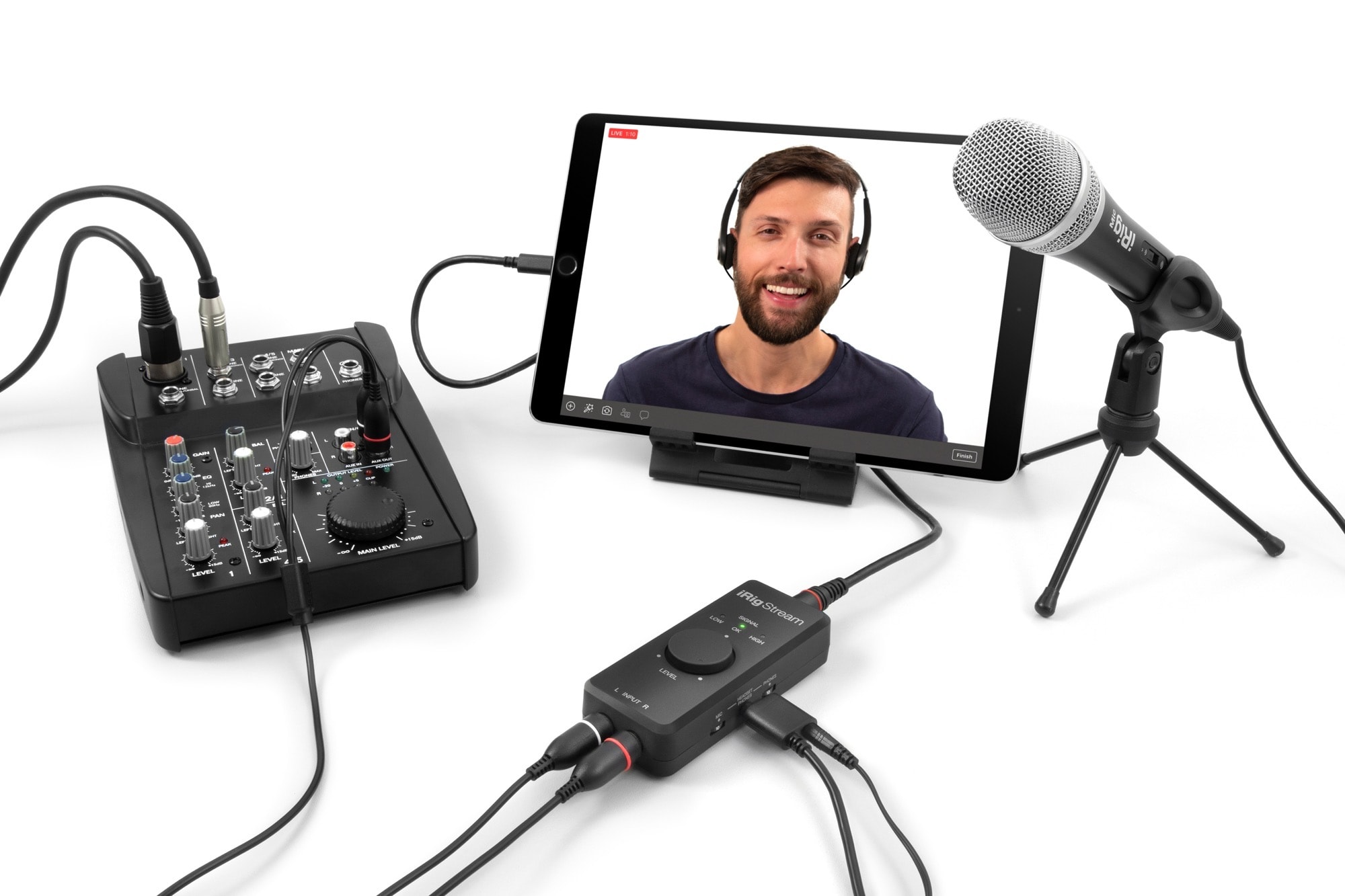 IRig stream podcasting setup