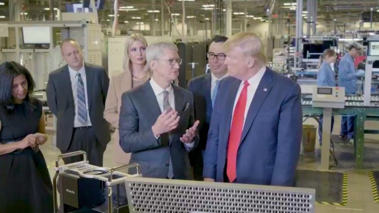 Apple CEO Tim Cook talked Mac Pro with President Trump