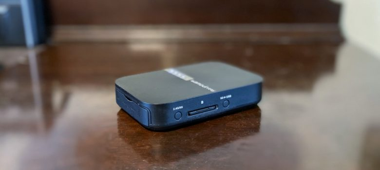 RAVpower FileHub Travel Router is quite portable.
