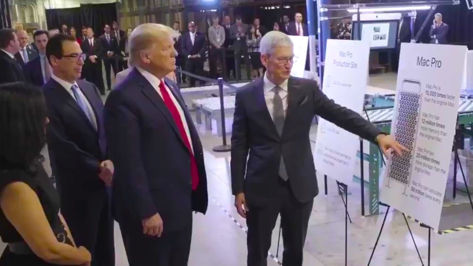 Apple CEO and President Trump talk about the Mac Pro