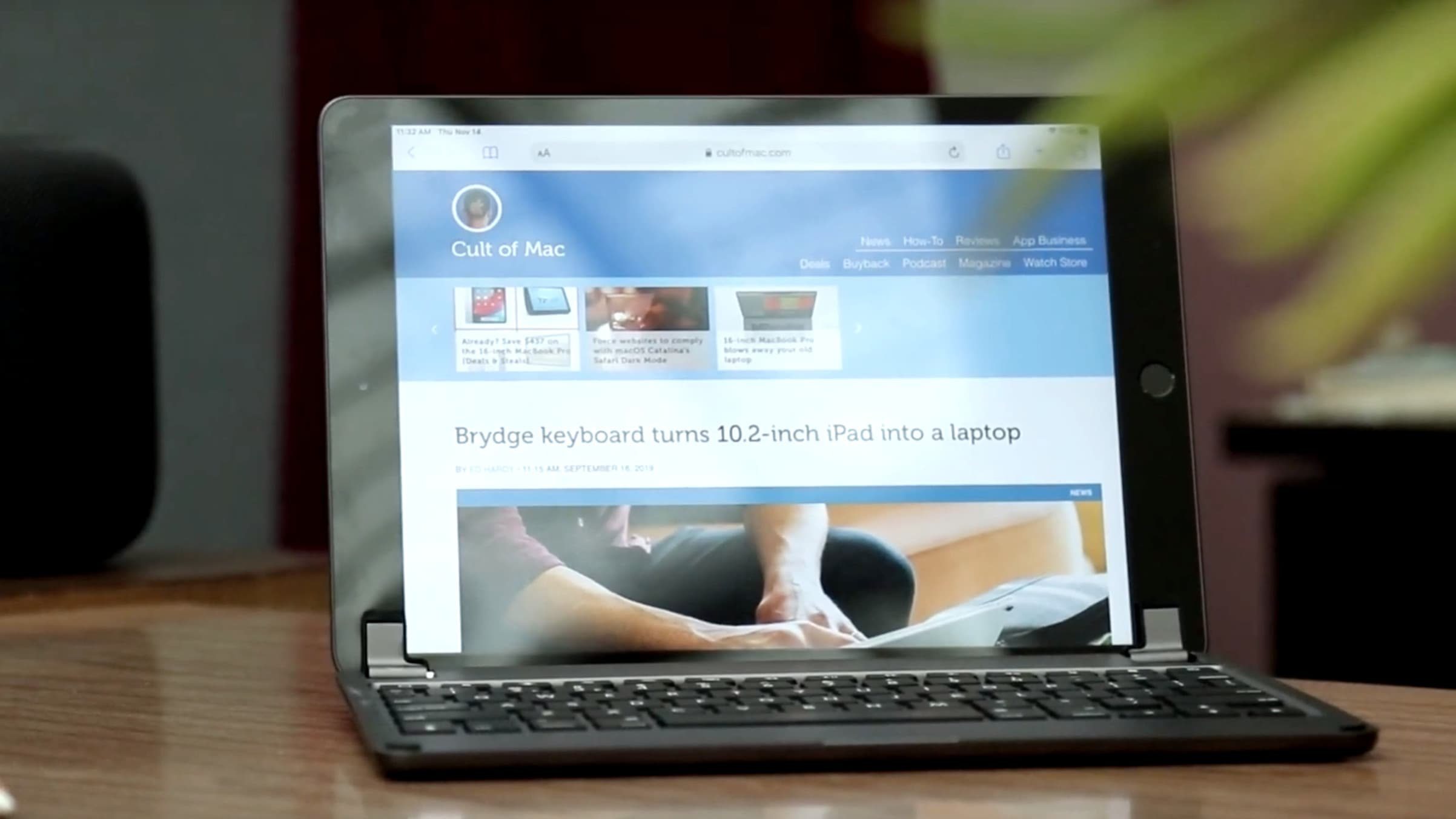 The Brydge Keyboard on the 10.2 iPad