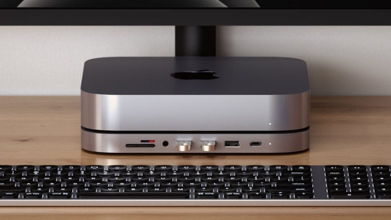 The Satechi Stand & Hub puts the Mac Mini ports front and center.
