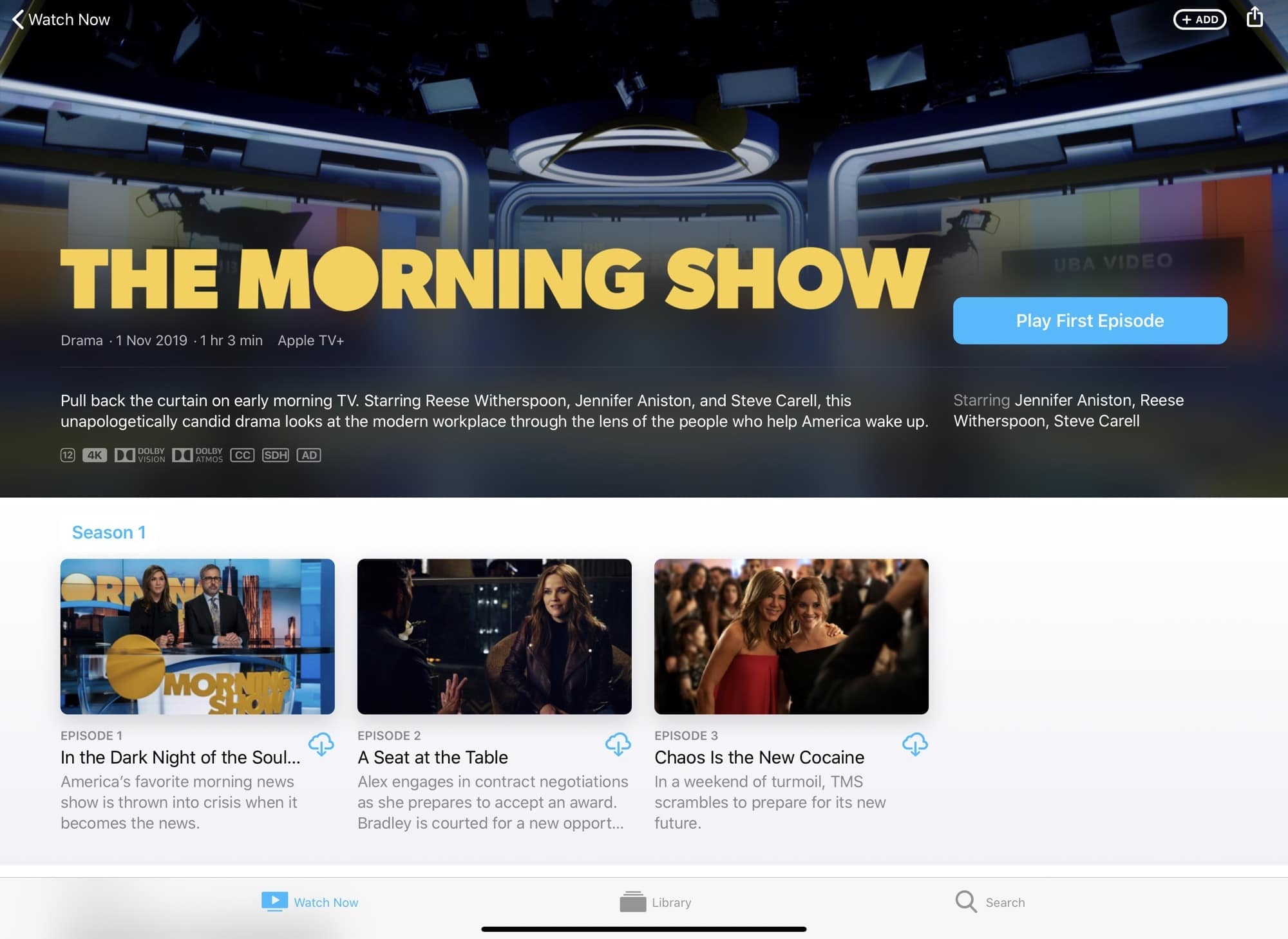 The Morning Show is just one of the star-studded offerings on Apple TV+.