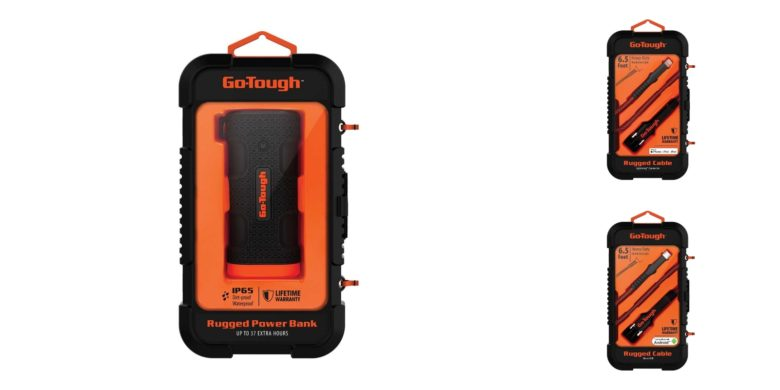 Score reinforced Go-Tough power banks and cables to travel-proof power for your devices.