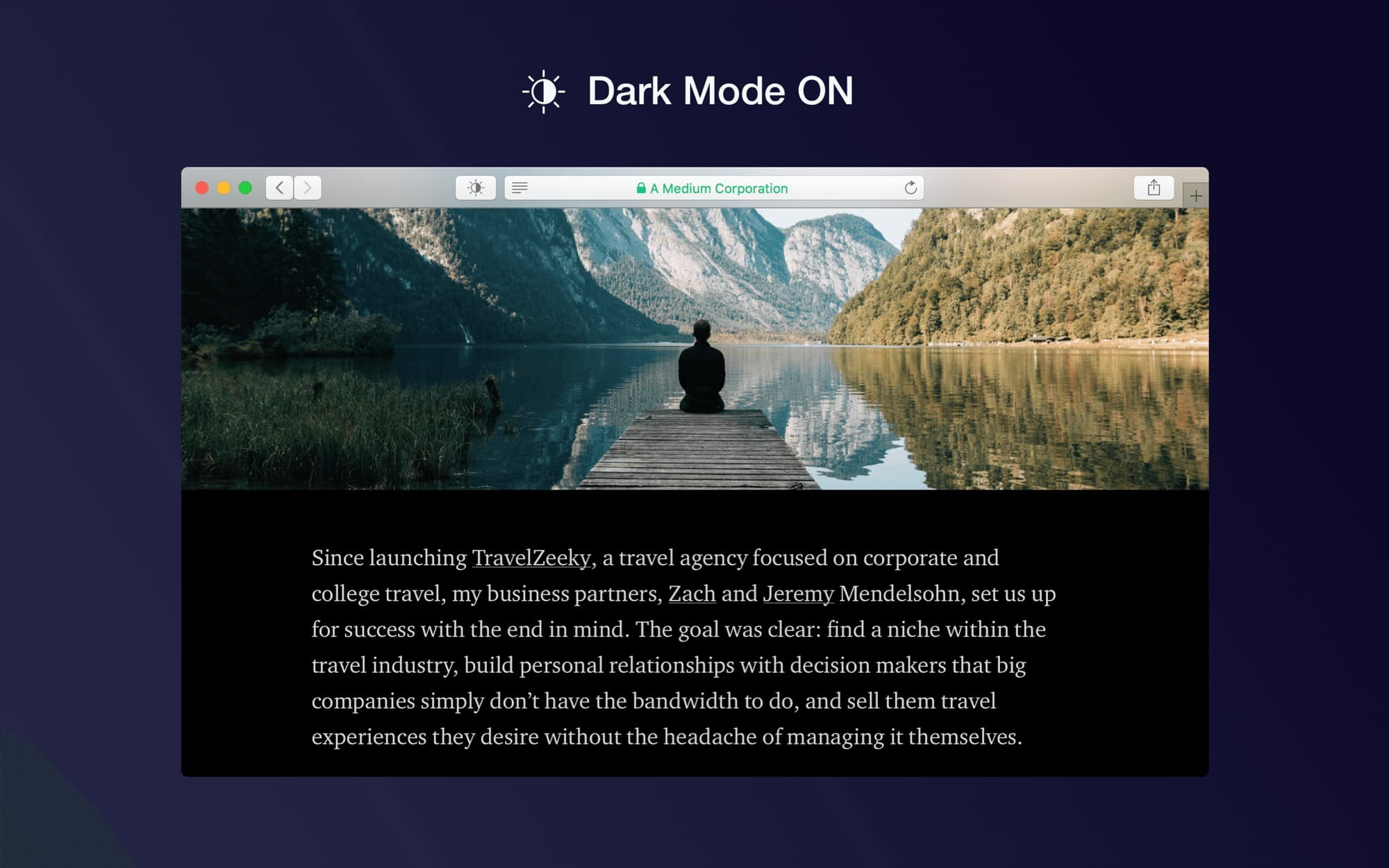 Safari Dark Mode on Mac.... So relaxing.