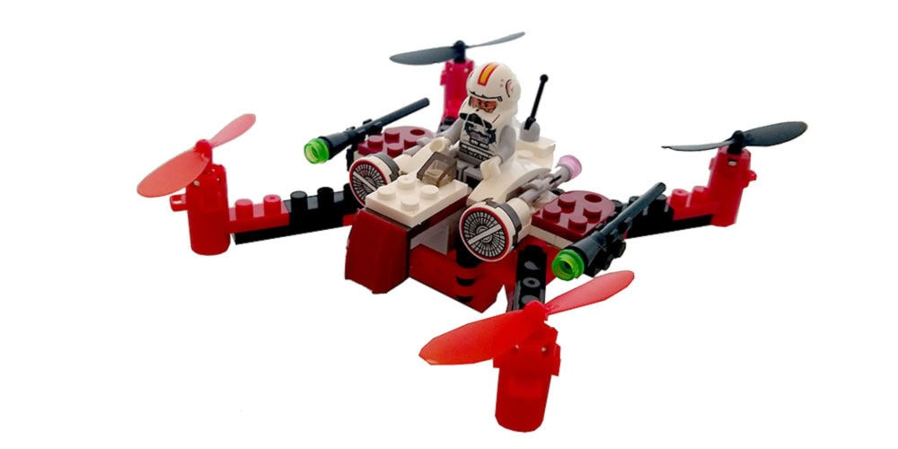 The Space Fighter Building Block Drone is perfect for brainiacs.