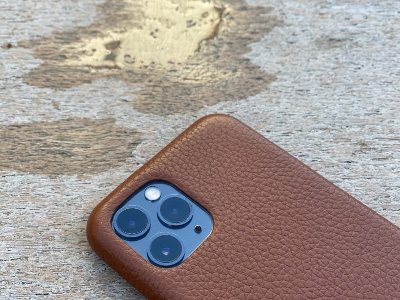 Woolnut leather iPhone Pro case: Style and substance.