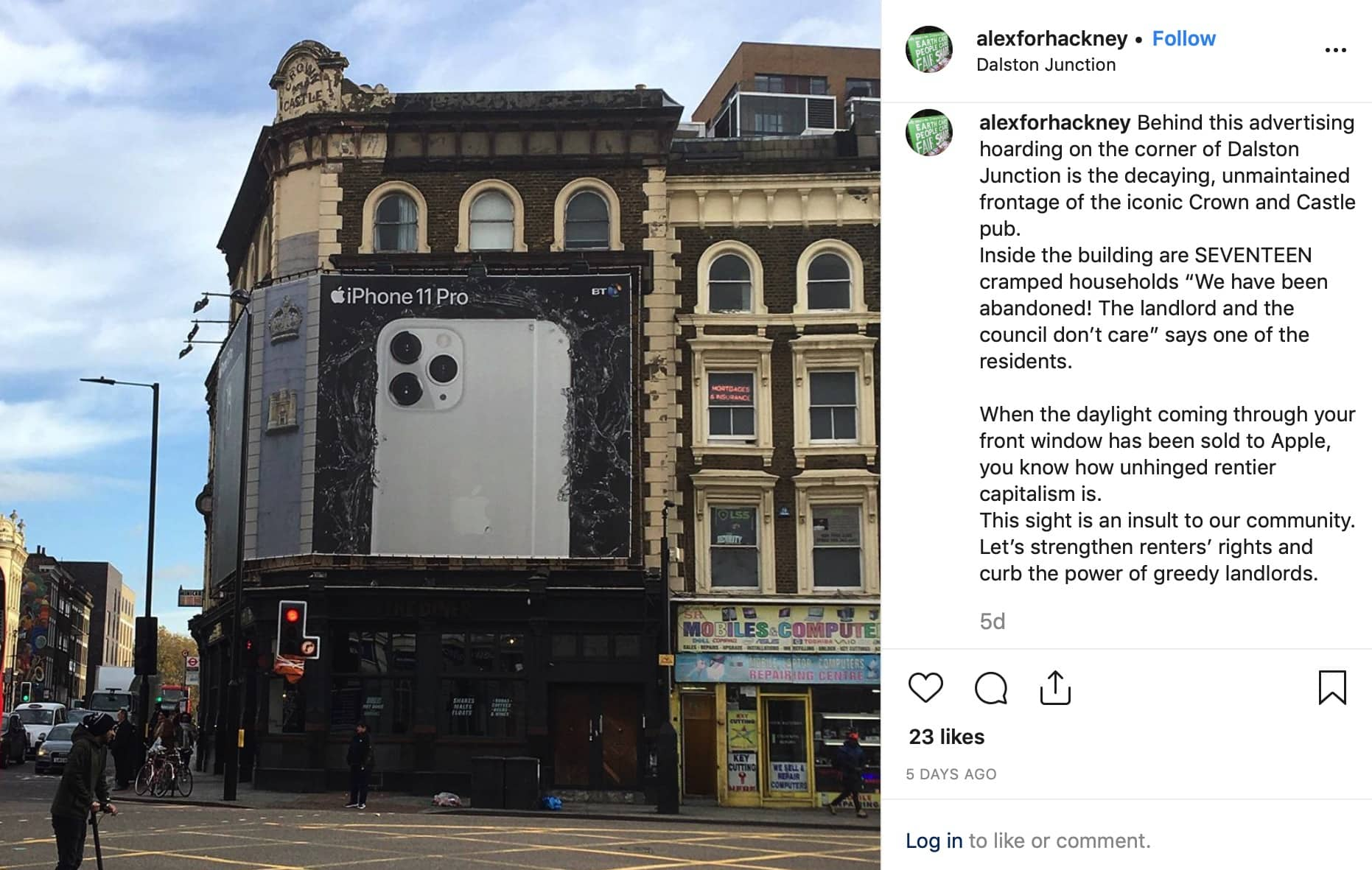 Controversial light-blocking iPhone billboard removed from window