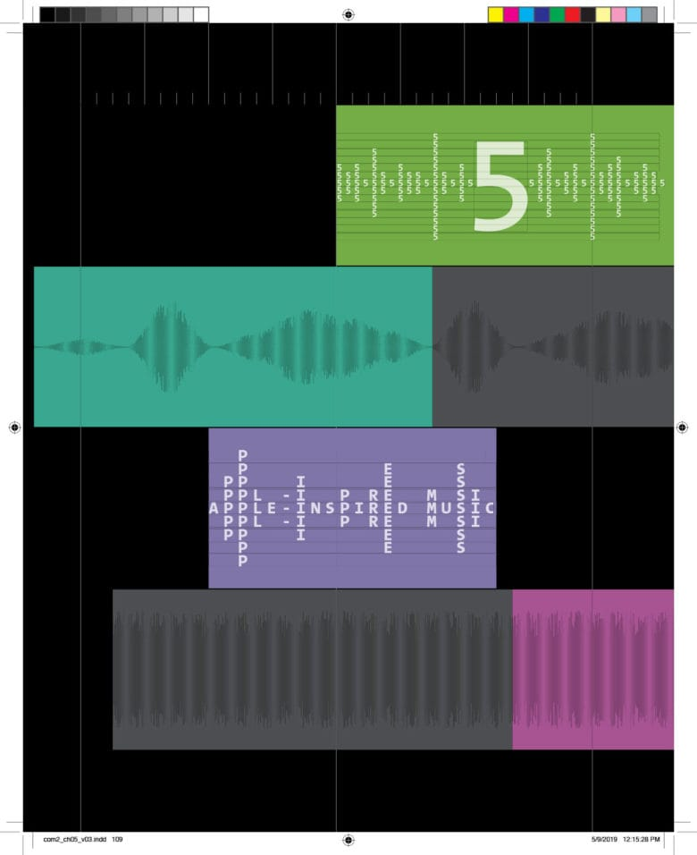 A Mac-inspired music chapter in The Cult of Mac, 2nd Edition got a design inspired by Garage Band