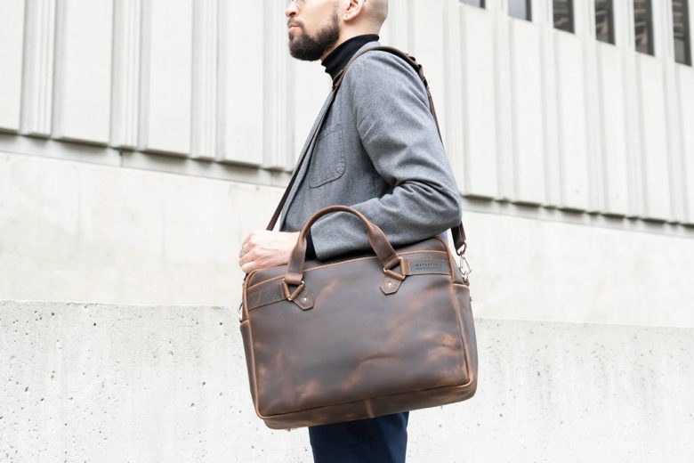 WaterField Designs Executive Leather Laptop Briefcase