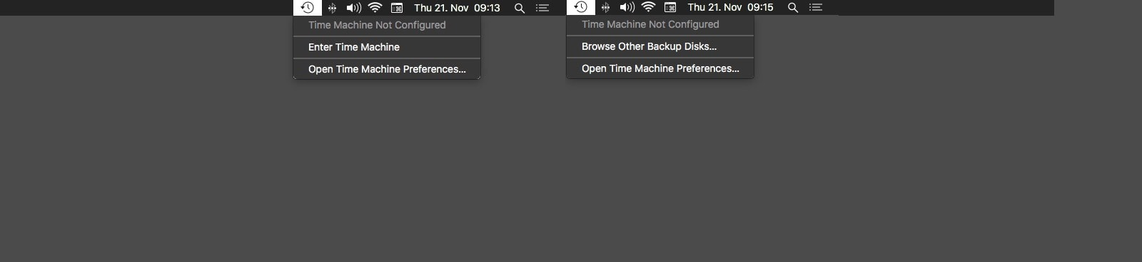 Time Machine offers hidden Mac menu bar options, too.