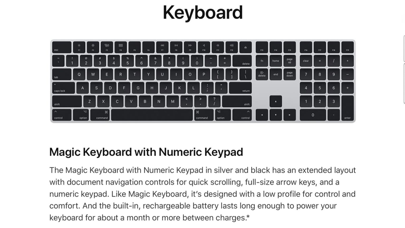 Apple Magic Keyboard in black and silver is surprisingly expensive.
