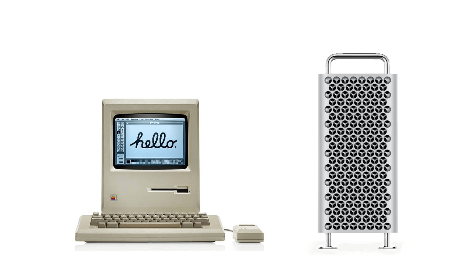 2019 Mac Pro and original Macintosh 128K: Which cost more.