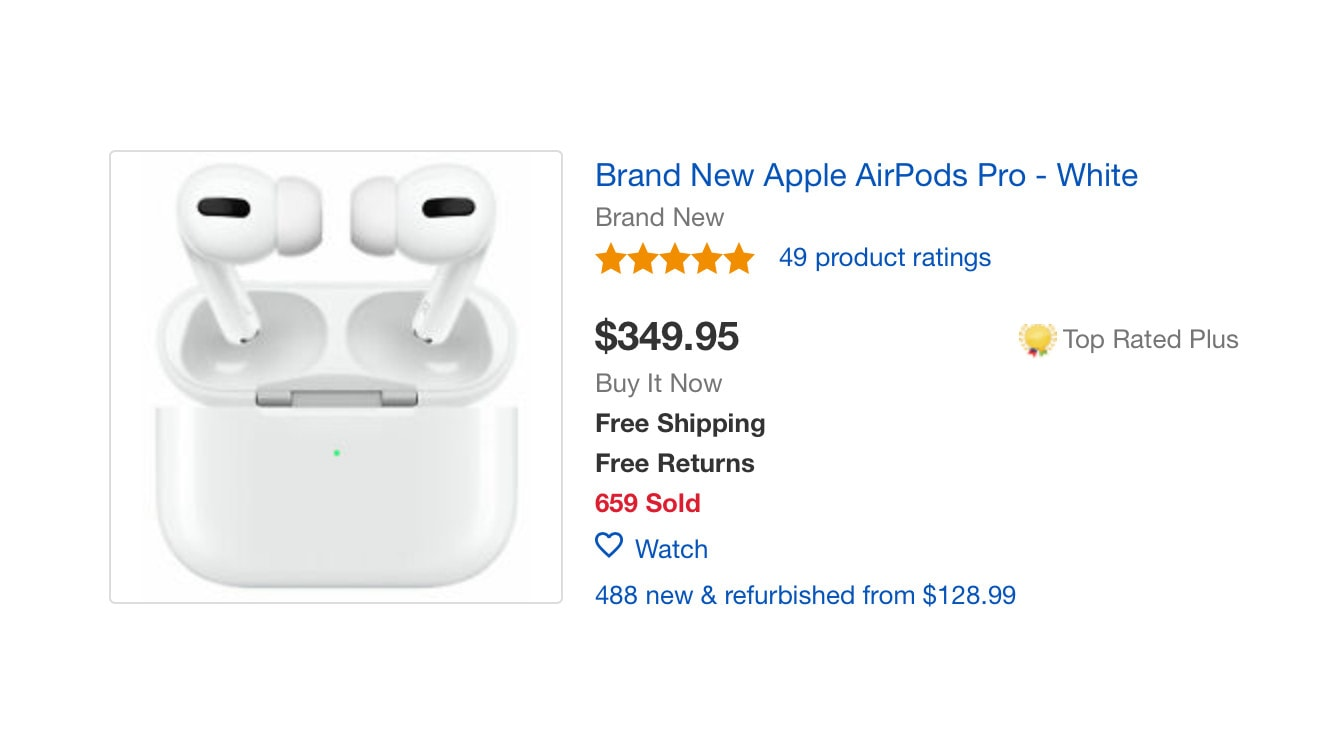 With Airpods Pro Sold Out Resellers Seek Huge Markups Cult Of Mac