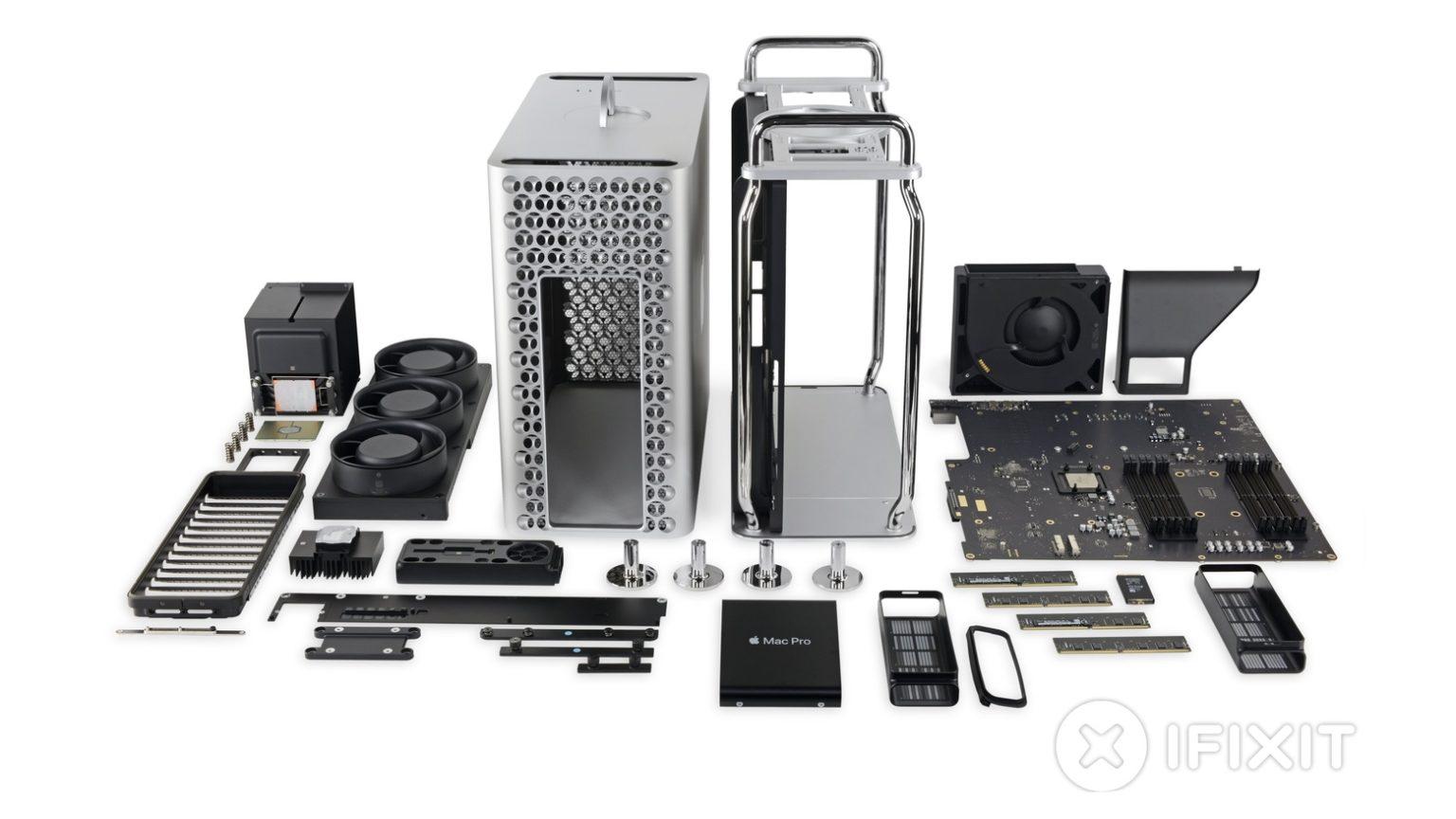 A 2019 Mac Pro after an iFixit tear down