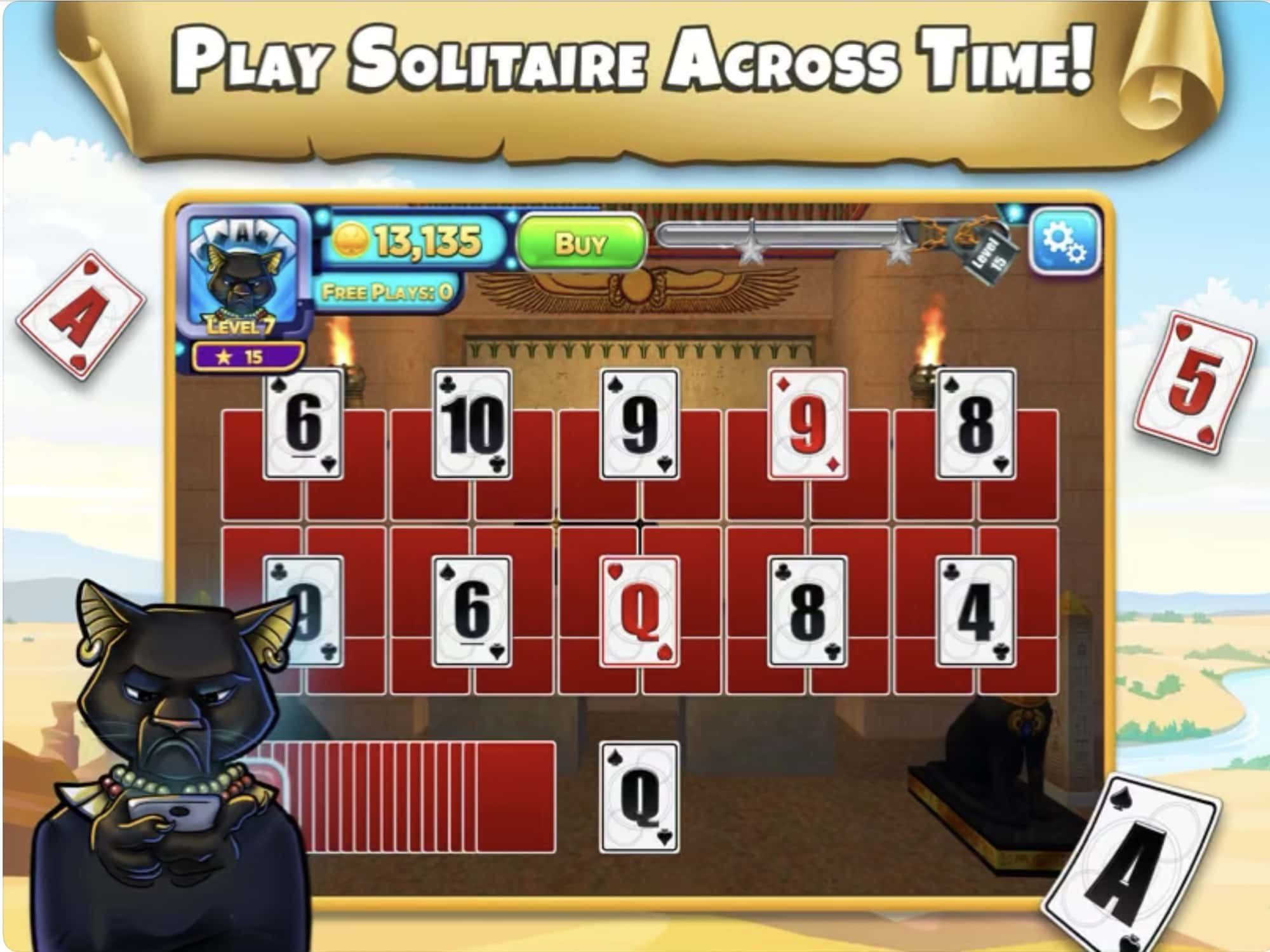 Adventure through history with Solitaire Time Warp.