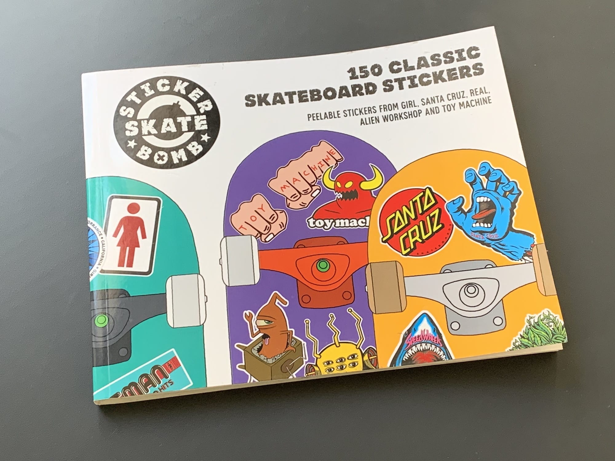 The book 150 Classic Skateboard Stickers is worth every penny if you're looking for MacBook stickers.