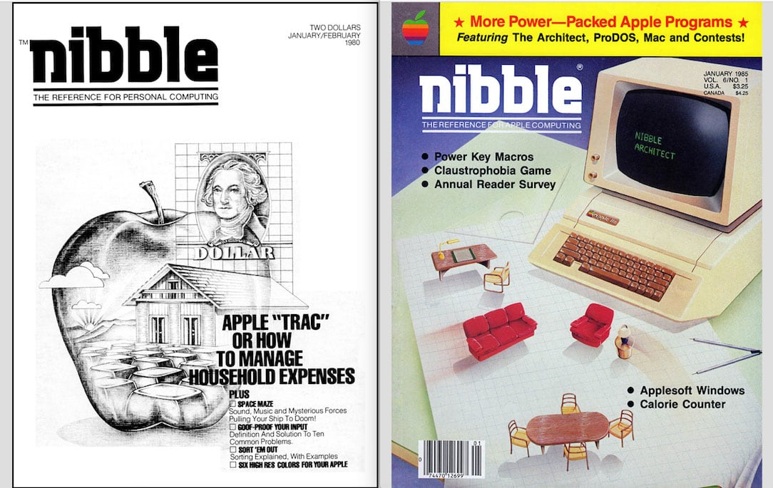two Nibble magazine covers