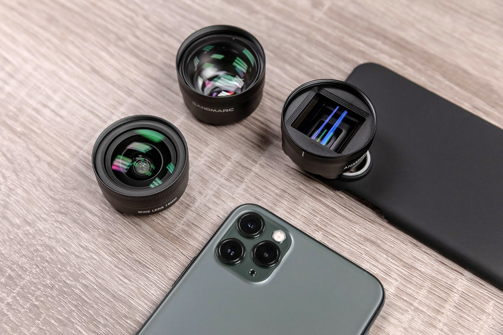 Sandmarc lenses and cases for the iPhone 11 line