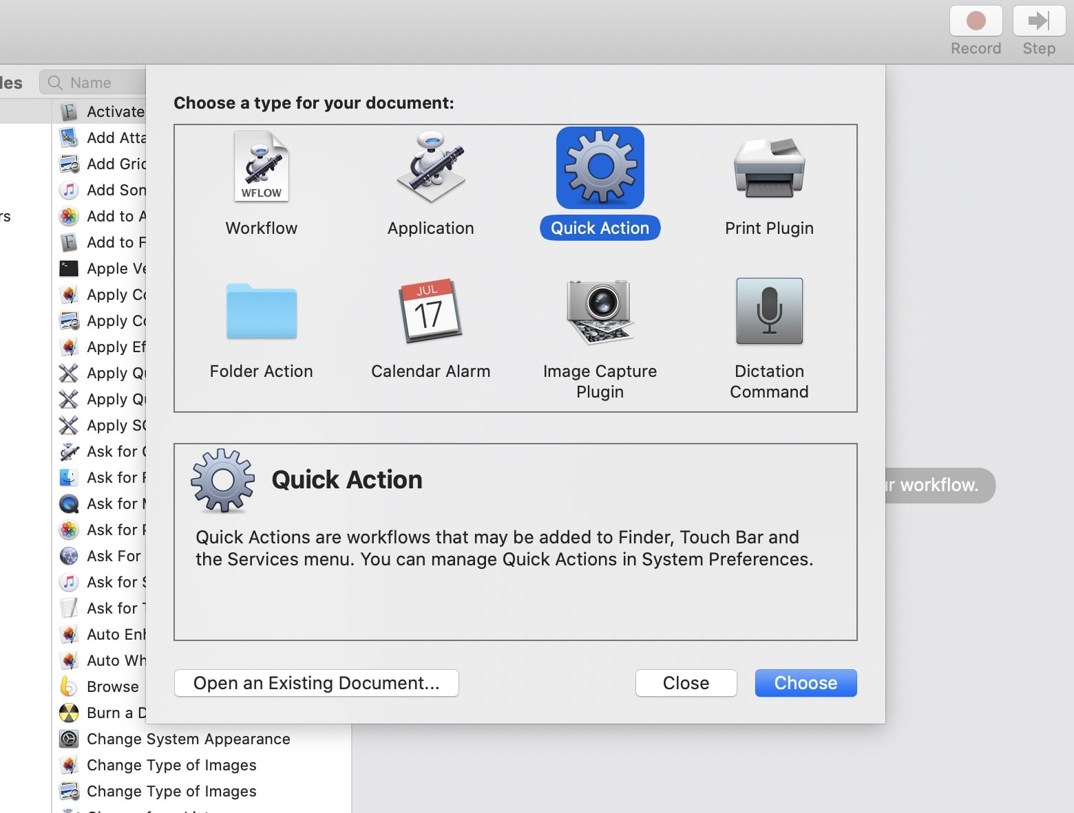 Create a Mac Quick Action here.