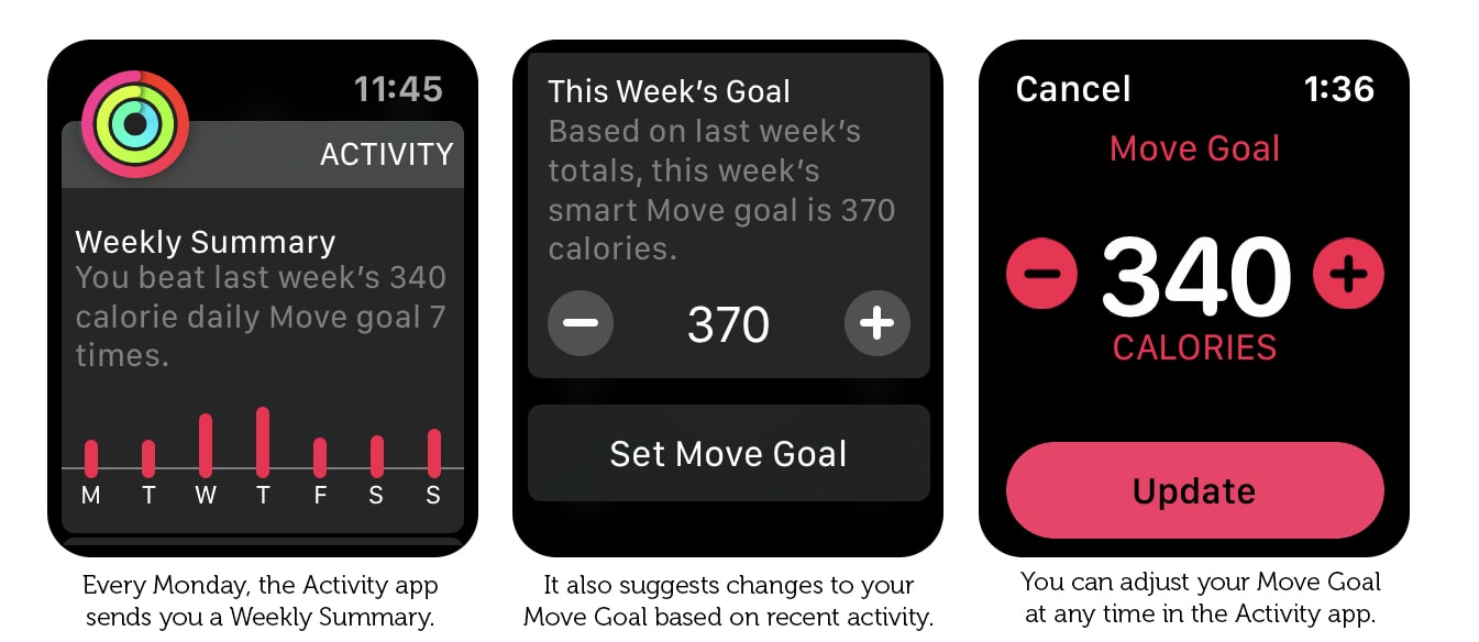 Here's where you set your Apple Watch Move goal.