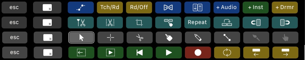 Logic's amazing Touch Bar support.