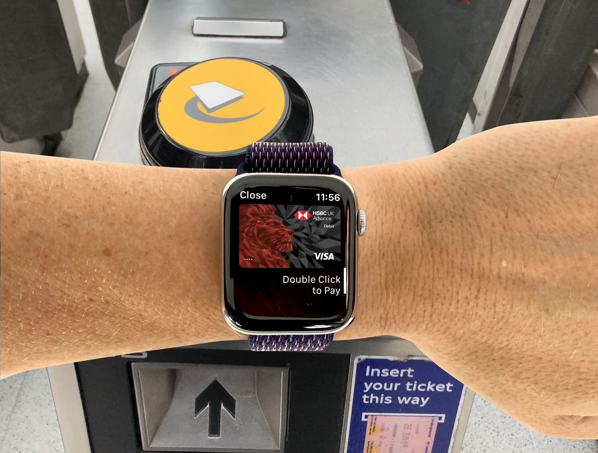 You don't need to trigger Apple Pay to access the London Underground